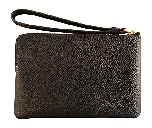 [category] COACH Cross Grain Leather Corner Zip