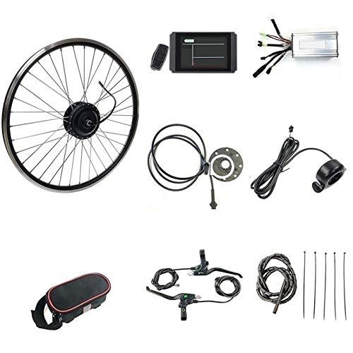 36V / 48V 500W 20'/ 24' / 26'/27.5' / 28'/ 29' / 700C Kit de Bicicleta Eléctrica, Kit de Conversión de Rueda Trasera de Bicicleta Eléctrica con Pantalla KT-LCD8H (Color : 48V, Size : 20 Inch)