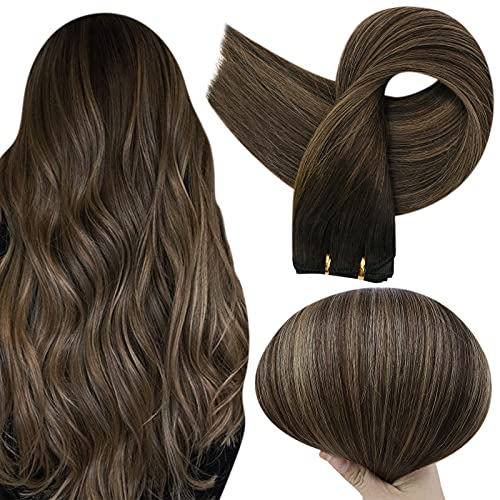 Full Shine Hair Weft Bundles Sew In Hair Extensions Balayage Color 2 Fading To Ash Brown 8 Highlight 2 Brown Weft Human Hair Bundles 18 Inch Weave Hair 100 Grams Hair Bundles Real Remy Hair