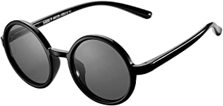 Kids Polarized Sunglasses Round Rubber Frame Sun Glasses...
