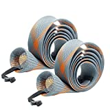 SF Fishing Casting Rod Socks Braided Mesh Rod Sleeve Cover Protector Pole Gloves(Gray/Orange/2PCS)