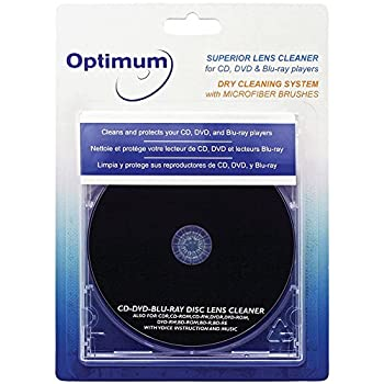 Optimum Superior Lens Cleaner  OPTCDDVDLC  For CD DVD and Blu-ray Players with Microfiber Brush Cleaning System