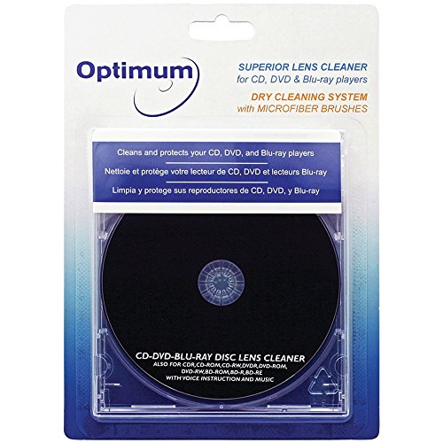 Optimum Superior Lens Cleaner (OPTCDDVDLC) For CD, DVD and Blu-ray Players with Microfiber Brush...