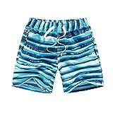 Kqpoinw Trajes de Baño para Niños, Trajes de Baño para Niños Pantalones Cortos de Tabla de Playa Transpirables de Secado Rápido Traje de Baño para Bebés Niños (M: (5~6 años), Cielo Azul)