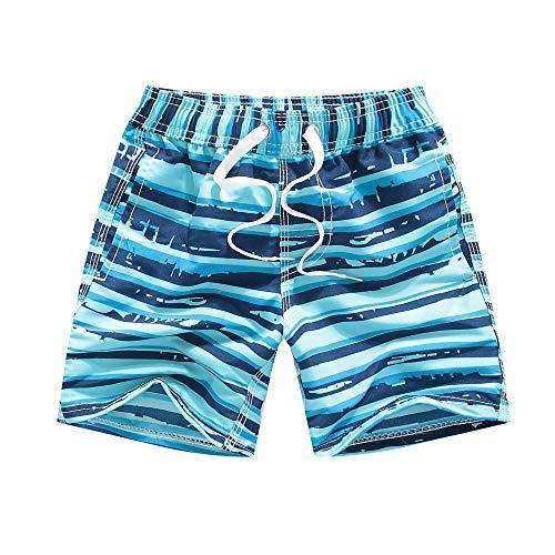 Kqpoinw Badehose für Jungen, Badeanzug für Kinder Schnelltrocknend Atmungsaktive Strand-Boardshorts Badebekleidung für Baby-Kleinkind-Jungen (Himmelblau, M:(5-6 Jahre))