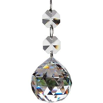 20pcs Crystal Glass Ball Chandelier Prisms Pendants Parts