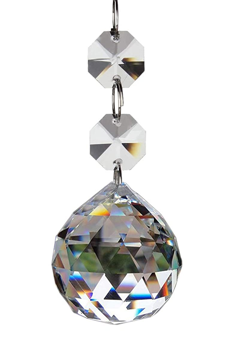 Fushing 20pcs Crystal Glass Ball Chandelier Prisms Pendants Parts Beads (20mm, Clear)