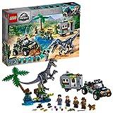 LEGO JurassicWorld FacciaaFacciaconilBaryonyx:CacciaalTesoro, Playset con Dinosauri e Fuoristrada Buggy Giocattolo, 75935