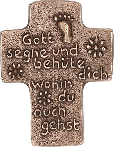 Butzon & Bercker 2-143779 Taufkreuz Gott segne und Behüte Dich, Bronze