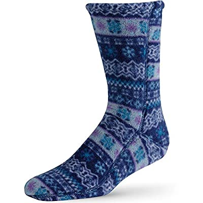 Acorn Unisex Versafit, Breathable and Moisture Wicking, Mid-Calf Fleece Sock, Icelandic Blue, Medium Women