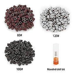 Belle Elektrisch Nagelfräser Fräser Nagelfeile Maniküre Set Plus 6 Bits und Schleifhülsen mit geringem Rauschen und Vibration für Acrylnägel, 20000 U/min
