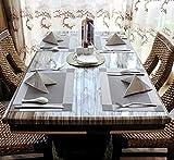 Tischset, Platzset 6er set Rutschfest Abwaschbar PVC Abgrifffeste Hitzebeständig Platzdeckchen für Zuhause Restaurant Speisetisch(Braun / Silber) - 4