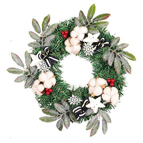 FeiliandaJJ Weihnachten Decoration Kranz 35CM Kapok Künstliche Pflanzen Herbst Kranz für Tür Wand Party hängenden Garland Ornamente Weihnachtsschmuck,Box Verpackung (A)