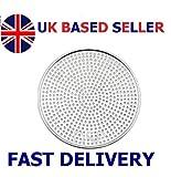 Aluminium Mega Pizza Screen Perforated Heavy Duty Pan Baking Tray Net Wire 6' to 18' inch (UK Base Seller) (18' inch - 45.72cm)