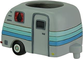 Allen Designs Resin Planters Allen Designs Happy Camper Whimsical Indoor/Outdoor Planter 8.5 X 5 X 5.25 Inches Gray
