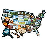 RV State Stickers United States - Travel Camper Map RV Decals for Window, Door, or Wall ~ Includes 50 State Decal Stickers with Scenic Illustrations (19' x 13'/Small) See Many Places