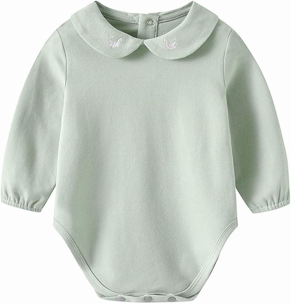 Auro Mesa Newborn Baby Infant Tulsa Mall Pe Long-Sleeve Solid Cotton Unisex shopping