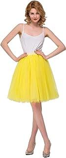 MisShow Damen Tüll 50s Vintage Rockabilly Petticoat Underskirt Rock Karneval Rock