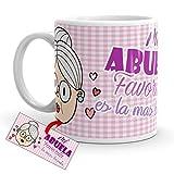 Kembilove Taza Desayuno para Abuelas – Taza Original con mensaje Mi abuela favorita es la mas bonita – Taza de Café y Té para Abuelas y Madres de cerámica de 350 ml