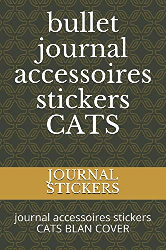 bullet journal accessoires stickers CATS: journal accessoires stickers CATS BLAN COVER