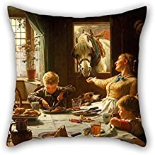 MaSoyy 18 X 18 Inches / 45 By 45 Cm Oil Painting Frederick George Cotman - One Of The Family Throw Cushion Covers ,both Sides Ornament And Gift To Festival,birthday,kids,teens Girls,bf,bedding