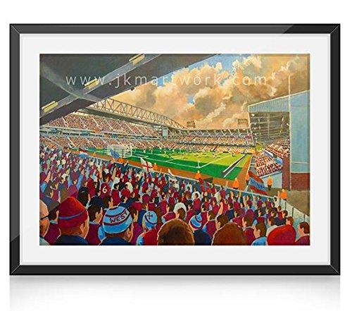 Upton Park Stadium Art A4 Ingelijste Print - West Ham United FC