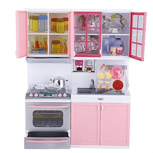 Greensen Set da Cucina per Bambini Set da Gioco Mini Cucina Giochi di Ruolo Set con Forno a Microonde, Fornello e Lavello Rimovibile, Bambini Educativi Finta Giocattolo da Cucina 24 x 8 x 32,5 Cm