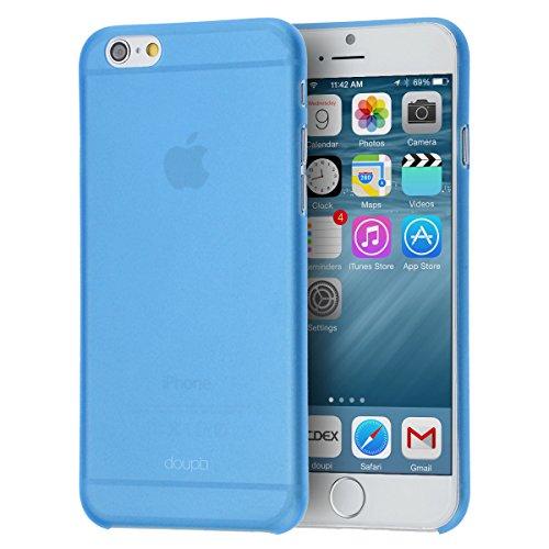 doupi UltraSlim Funda para iPhone 6 Plus / 6S Plus (5,5 Pulgadas), Finamente Estera Ligero Estuche Protección, Azul