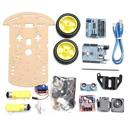Bluelover 2 Wd Tracking Smart Robot Car Kit chassis met ultrasone snelheden voor Arduino Uno R3
