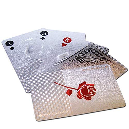 トランプカード (シルバー) 金 プラスチック ゴージャス 手品 パーティー グッズ テーブルマジック カードゲーム かっこいい ポーカー 人気 jojo 防水 映え アメリカン雑貨