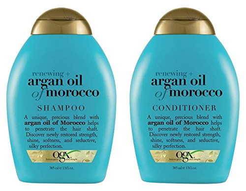 (OGX) Organix Shampoo Moroccan Argan Oil + conditioner, 13 oz combo