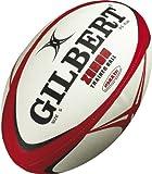 Gilbert Zenon Trainer balón de Rugby, Negro/Escarlata, 4