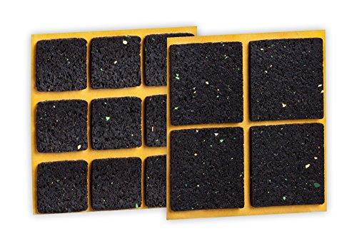 haggiy Anti-Rutsch-Pad (Rutschhemmer für Möbel, Sofas, Tische), selbstklebend, SET eckig (13-teilig)