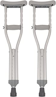 PCP Push Button Adjustable Height Crutches, Chrome, Kids Child Size