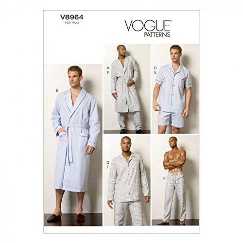 Vogue Herren-Schnittmuster 8964 für Pyjama und Bademantel