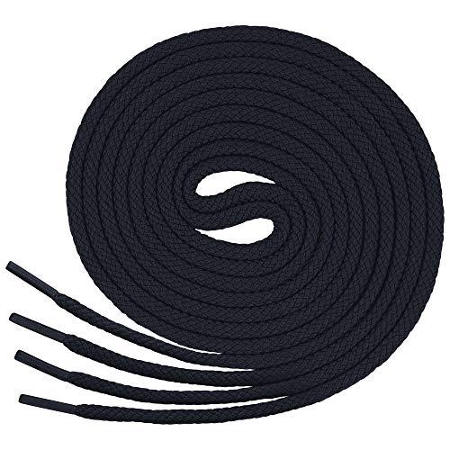 Lenzen 3 Paia Lacci Rotondi per Scarpe Sportive, Scarponcini e Stivali I Stringhe Robuste e Resistenti (120 cm, blu scuro)
