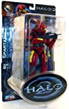 Halo 2 Action Figure Limited Edition Series 1 Red Spartan Version 2 (White Stripes)