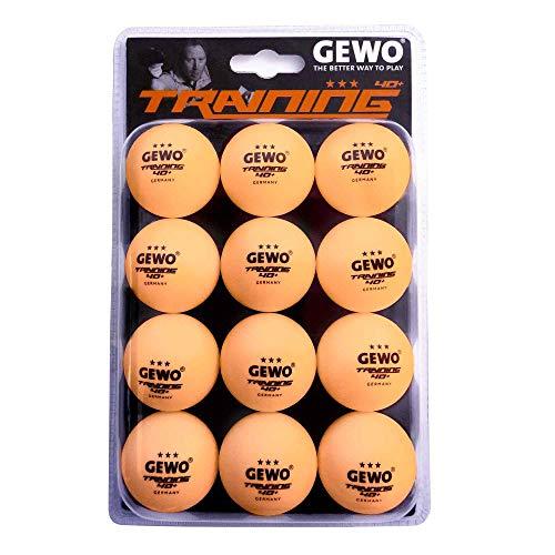 GEWO - Palla da allenamento, confezione da 12, Unisex - Adulti, GEWO - Pallone da allenamento, 40 + 12 pezzi, 85931200, Colore: arancione., 40 mm