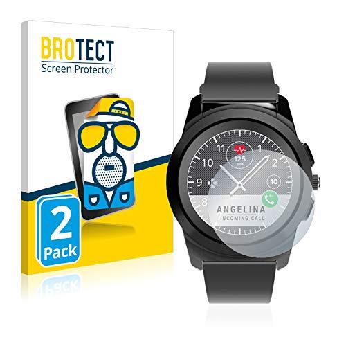 BROTECT 2X Entspiegelungs-Schutzfolie kompatibel mit MyKronoz ZeTime Regular (44 mm) Bildschirmschutz-Folie Matt, Anti-Reflex, Anti-Fingerprint