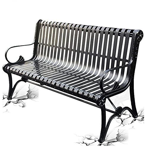 JLKDF Panca da Giardino per Esterno Patio Sedia da Veranda, Panca in Metallo con Schienale e braccioli, Panca da Parco con Struttura in Alluminio pressofuso, Sedile Doppio per Il Tempo l