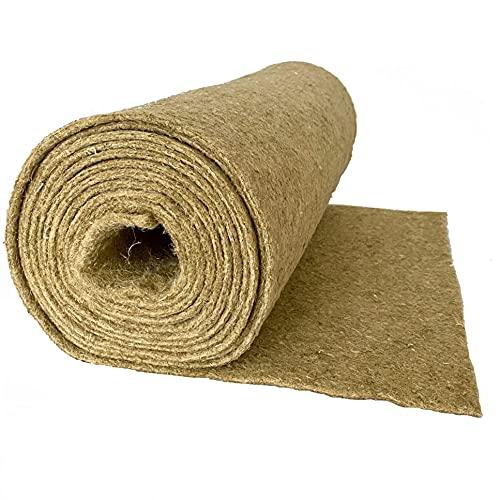 Nager-Teppich aus 100 % Hanf, Meterware, 0,60 m x 10,00 m x 0,5 cm dick (EUR 6,32/m²), Nagermatte geeignet als Käfig Bodenbedeckung z.B. für Kaninchen, Meerschweinchen, Hamster, Degus, Ratten und andere Nagetiere.