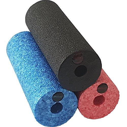 diMio Mini-Epp Hartschaum für Unterwegs Oder bei Der Arbeit Faszienrolle, in 3 Farben und Härtegraden - Schwarz (sehr hart), Rot (hart), Blau (mittlere Härte), 15x5.4cm (Schwarz (sehr hart))