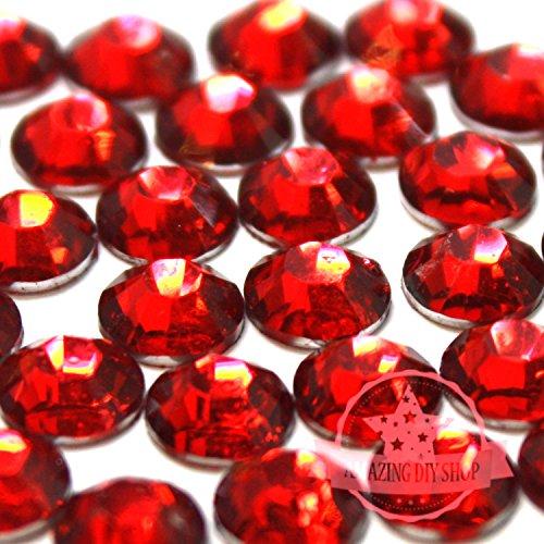 2mm, 3mm,4mm,5mm,6mm DIY Resin Round Flat Back Rhinestones Gems Brilliant 14-Cut Facets Flatback Includes Rhinestones Flat Back Samples from GreatDeal68 (6mm (450 pcs), Light Siam)