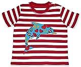 Hariz Baby Camiseta de rayas delfín corazones dulces animales jungla Plus tarjetas de regalo de bomberos rojo/blanco lavado 18 – 24 meses