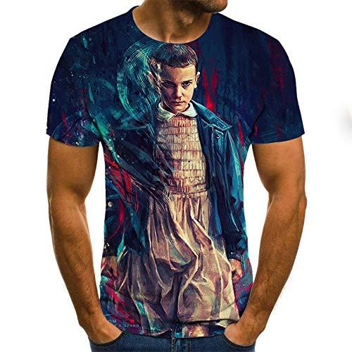 T-Shirt Grande Taille Hommes T-Shirt été géométrique Cercle 3D imprimé T-Shirts Mode O - Cou à Manches Courtes décontracté lâche Hommes Chemises 6XL Txu-1048