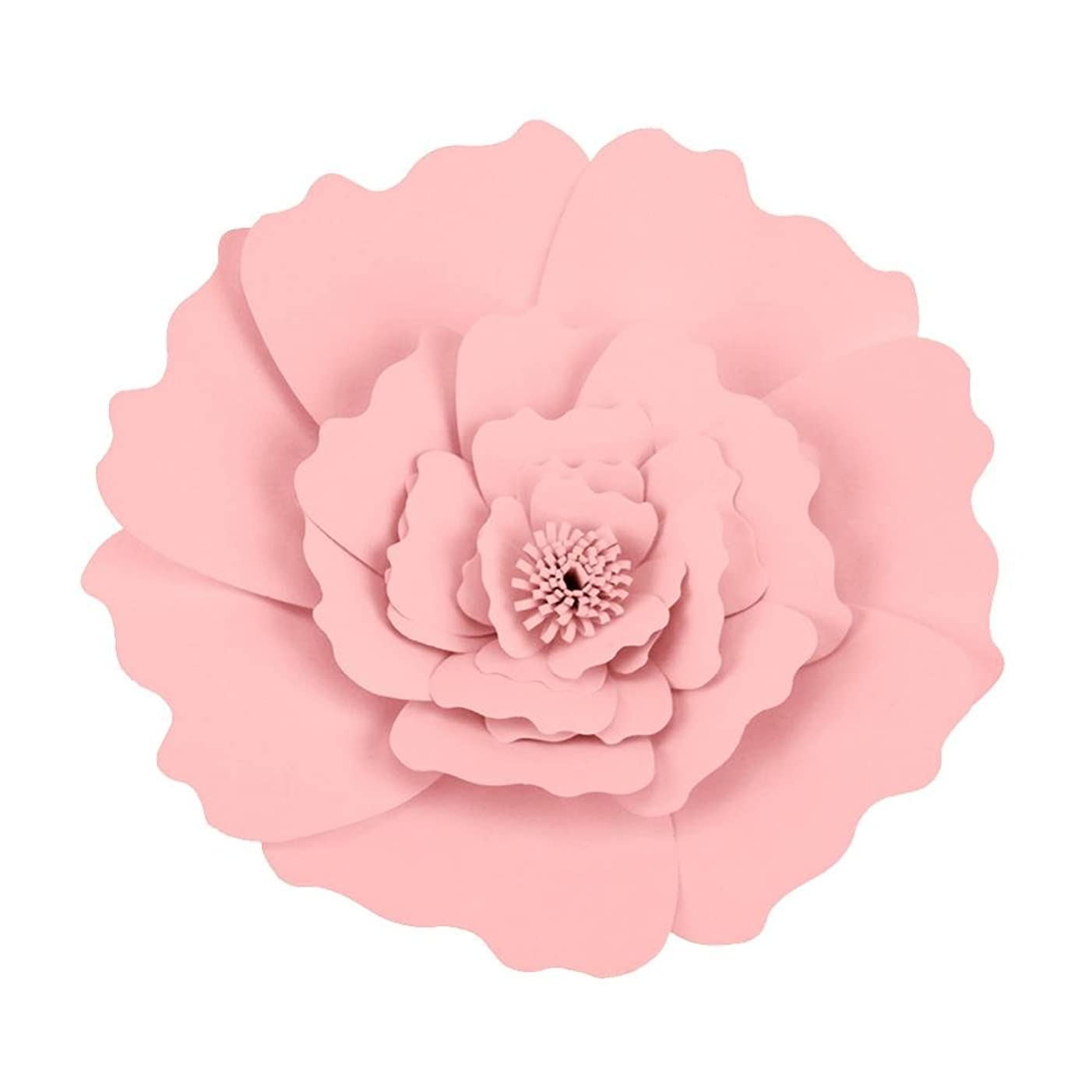 Garosa (Pack of 2) Paper Flowers Handcrafted Flowers Paper Pompoms Perfect for Wedding Decor Birthday Celebration Wall Decoration Baby Shower(Light Pink)