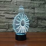 table de chevet enfant,3D Led Whiskey Bouteille Lampe De Table 7 Couleurs Changement...