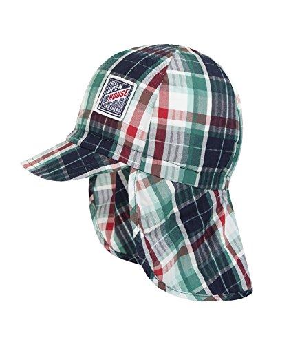 Döll Jungen Baseballcap Mütze mit Nackenschutz, Größe:49, Präzise Farbe:Grün/Rot