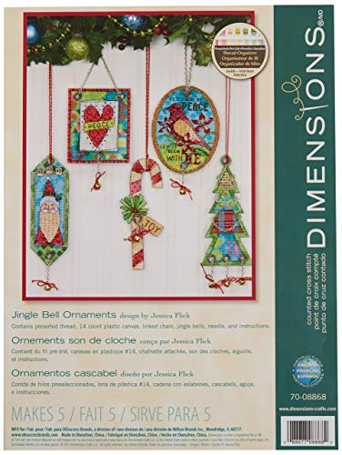 Dimensions Counted Cross Stitch, Jingle Bell Ornament set