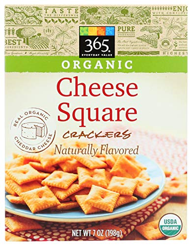 365 Everyday Value, Organic Cheese Square Crackers, 7 oz